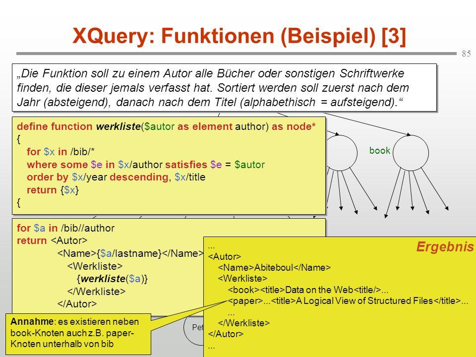 XQuery: Funktionen (Beispiel) [3]